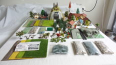 Faller/Busch/Kibri/Noch - H0-scenery. houses, trees, wall-sections, scatter material