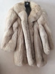 Greenland fox fur coat.
