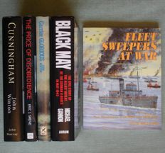 Navy; Lot with 5 books about naval action in the second world war – 1986/2000