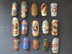 Collection of 15 Nice Bicycle Head Badges , including - Arizona, Record, Renold, Libertas, Davy and others