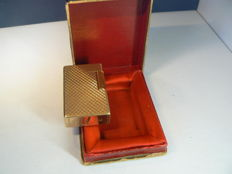 Gold plated Dupont lighter; fire points