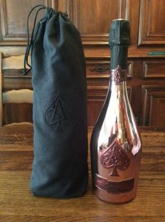 Armand de Brignac Ace of Spades Brut Rose, Champagne - 1 bottle (75cl) in original black bag