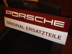 Porsche original ersatzteile enamel advertising sign.
