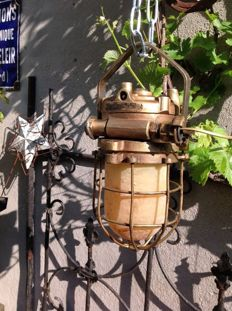 Unknown designer – Industrial bronze bully / ship lamp, explosion free .
