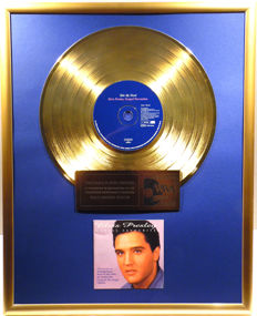 """Elvis Presley - Take my hand - Elvis Presley Gospel Favourites - 12"""" german Camden gold plated record with CD and cover by WWA gold Awards"""