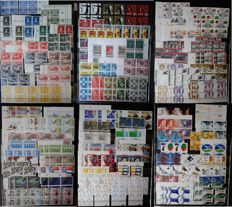 The Netherlands - Batch of 838 Blocks and strips of 4 in Stock Book