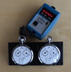Rare NOS 3x vintage Junghans Stopwatches rally dash mounted pair. 1960 - 1980. Heuer.