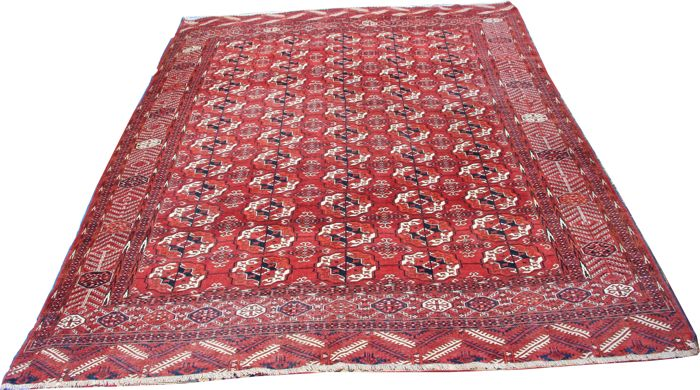 "Very decorative antique handmade Tekke Turkmen carpet size 330cm x 254cm (10'8""x8'3"")"