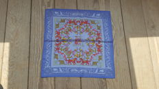 """Hermès - Superb Gavroche (pocket square) - """"Early America"""" designed by Francoise de la Perriere, in very good condition."""