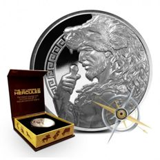 USA - 5 oz Hercules - The 12 Labours of Hercules - polished plate with box & certificate - Edition only 500 pieces worldwide