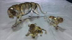 Swarovski - Mama tiger with 2 cubs, SCS Annual Edition 2010