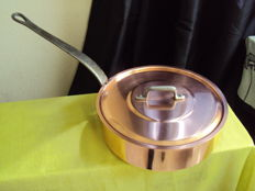 Professional tinned copper pan, made in France