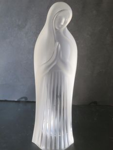 Lalique Standing Madonna (Frosted and Clear Glass)
