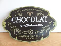 French chocolate advertising sign