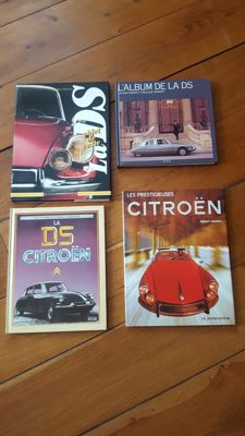 Lot of 4 Citroën DS books