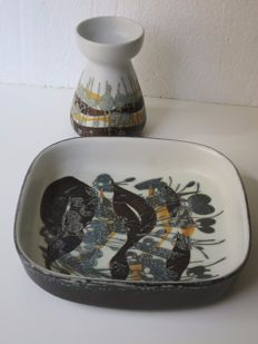 Royal Copenhagen - Ivan Weiss Stoneware Dish and candle holder the SIENA design