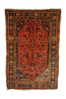 Hamadan, hand-knotted carpet from northwest Persia, around 1940.