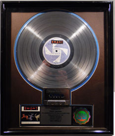 Heart - Bad Animals US RIAA Platinum Music Award ( goldene Schallplatte)  - original Sales Music Record Award ( Golden Record )