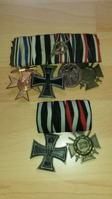 Two German ribbon clasps World War I
