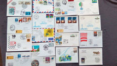 """Postale Nations Unies (Vereinte Nationen)"" from the 80s-90s, more than 3000 envelopes"