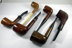 6 Bruyère pipes Made in England 1960-1990