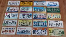 20 USA License plates (from 20 different States)