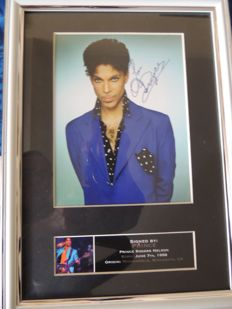Prince - Decorative Signed Picture Reprint - Very Nice - Framed