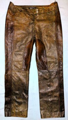 Versace - Lady's Leather Jeans/Pants