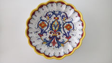 Marie C Deruta - Decorative plate - Hand painted