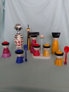 Alessandro Mendini + Stefano Giovannoni & Rumiko Takeda in collaboration with National Palace Museum Taiwan for Alessi – various items from the 'Chin family' collection