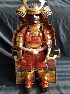 Samurai Armour, Yoroi Musha Ningyo – Japan – circa 1920
