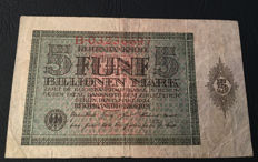 Germany - 5 Billionen Mark 15.03.1924 - Pick 141 - Rosenberg 138