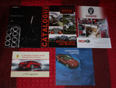 Mixed lot - 5 brochures: FERRARI, BURTON, Sabre, Radical Performance Engines