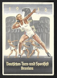 German Empire/Reich 1936 /1944 - batch with 42 propaganda cards and 3 letters