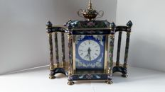 Cloisonné clock – Second half of the 20th century