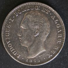 Portugal – 500 Réis (silver) – D. Luís I – 1877 – Lisbon – Rare date – Limited issuance of 50,000 copies
