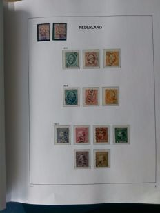 The Netherlands 1852/1945 - advanced collection with Airmail, Postage due, Official and Syncopated perforation in Davo album.
