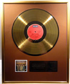 "The Rolling Stones - Around and Around -  12"" german Decca record gold plated record by WWA Awards"