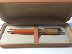 Ballpoint pen  Prima Classe Oliviero Martini in resin and leather