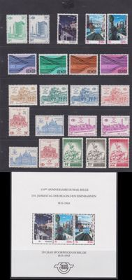 Belgium 1957/1985 - Selection railway stamps and parcel stamps - Between OBP TR361 and TR BL4