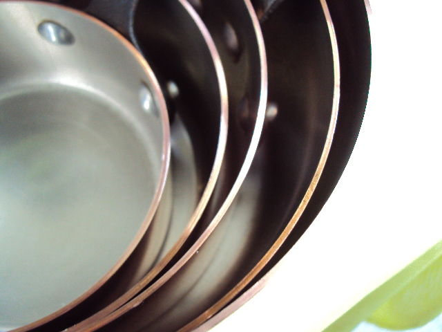 how to clean copper pans inside