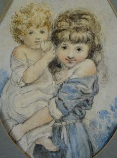 Unknown (early 19th century) - A young girl carries her sibling