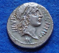 Roman Republic- Military mint traveling with Pompey! (49 BC), very rare coin (p532)
