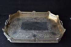 Large tray silver plated ( 60cmx48cm)   - France ca.1930