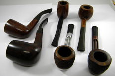 6 Bruyère pipes 1960-1990