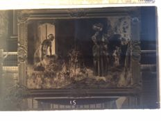 Glass negatives 11 x Paintings - 1957