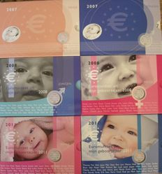 The Netherlands - Baby sets 2007/2011 ´Boy and girl´ (6 different pieces)