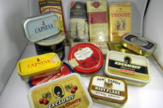 10 cans and 5 packs of pipe tobacco 2nd half of 20th century.