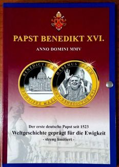Vatican – Collection of 12 Medals from the Vatican – Pope Benedict XVI – UNC – Luxury folder – Limited edition: 5000 collections