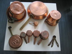 Party of copper kitchen tools - heavy quality.